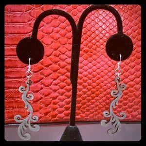 Jewelry - Wooden Scroll Earrings